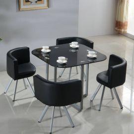 Dinning table set 4 chairs Dixon-black
