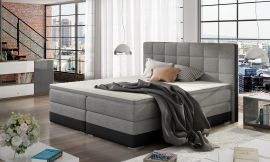 Boxspring bed Hillary -black-grey-160x200cm