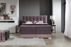 Boxspring bed Hillary -purple-160x200cm