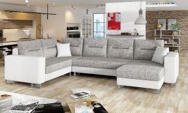 Corner sofa bed Fidel-white-grey-right