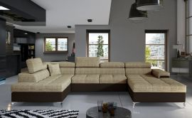 Corner sofa Foster-light brown-right