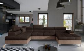 Corner sofa Foster-dark brown-right