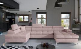 Corner sofa Foster-light pink-right