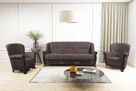 Sofa set Elfrida 3+1+1-dark brown