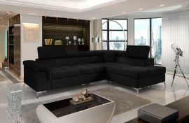 Corner sofa bed Fletcher -black-right