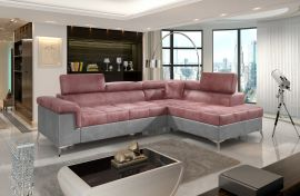 Corner sofa bed Fletcher -pink-right