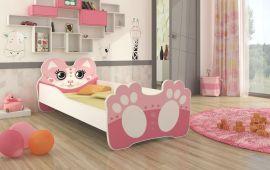 Lastensänky patjalla Bear 160x80cm pinkki