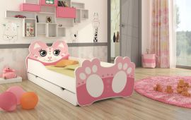 Children bed Bear-pink-160x80cm
