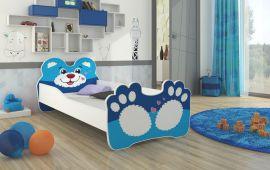Lastensänky patjalla Bear 160x80cm sininen