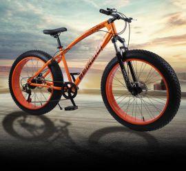 """Fatbike Maastopyörä 26"""" vanteella ja 4"""" renkailla 27-vaihdetta"""