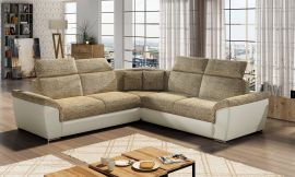 Corner sofa bed Gideon-light brown