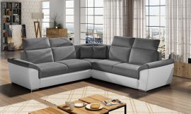 Corner sofa bed Gideon-white-grey