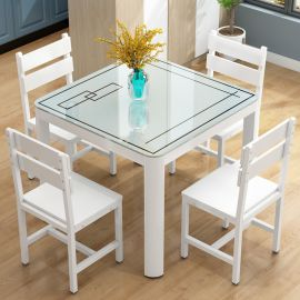Dinning table set 4 Forbes-white