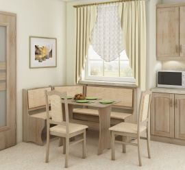 Dinning table set Frida 6 person-oak