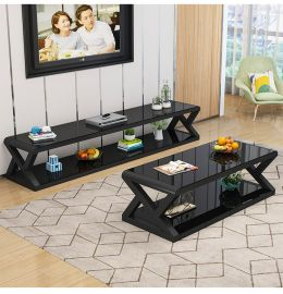 TV-Stand and coffee table set Gavin-black