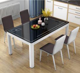 Dinning table set 4 chairs Gavino-black