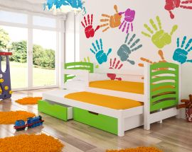 Children bed Malucia -green