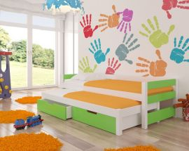Children bed Flynn-green