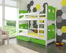 Children bed Esmerelda-green