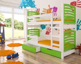 Children bed Marian-green