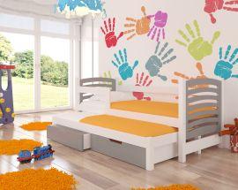 Children bed Malucia -grey