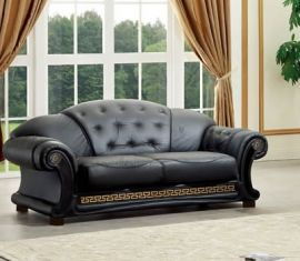 3-seater sofa Gubbio-black