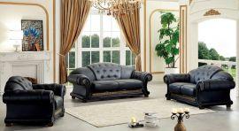 Gubbio 1+2+3 Sofa set-black
