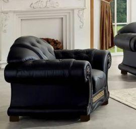Armchair Gubbio Black -black