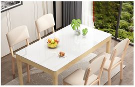 Dinning table set 4 chairs Hayward-white