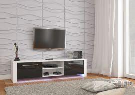 TV stand Amalie-black-white