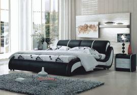 Sänky Hollywood Lux 160-180 musta-valkoinen