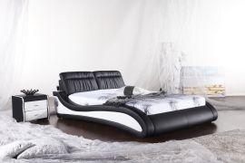 Sänky ibed Lux 160-180 musta-valkoinen