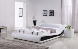 Sänky Indeco Lux 160-180 musta-valkoinen