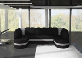 Corner sofa bed Heston-black