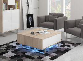 Coffee table Foxtail-oak-white