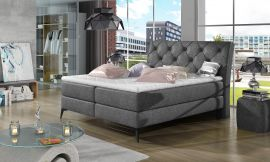 Boxspring bed Trudy -dark-grey-160x200cm