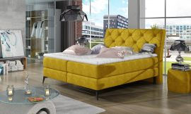 Boxspring bed Trudy -yellow-160x200cm