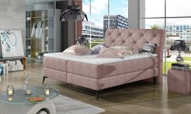 Boxspring bed Trudy -light pink-160x200cm