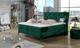 Boxspring bed Trudy -green-160x200cm