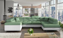 Corner sofa bed Inigo-light green-right
