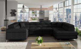 Corner sofa bed Inigo-black-right