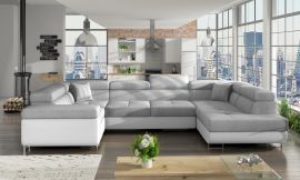 Corner sofa bed Inigo-white-grey-right