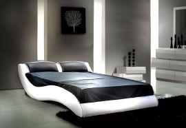 Sänky Leon Lux 160-180 musta-valkoinen
