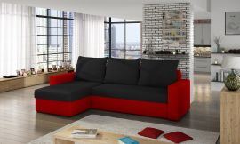 Corner sofa bed Jared-black-red