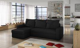 Corner sofa bed Jared-black