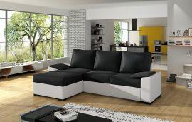 Corner sofa bed Jason-black-white