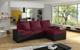 Corner sofa bed Jason-black-red