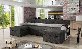 Corner sofa bed Marcelo-black-right