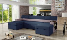 Corner sofa bed Marcelo-blue-right