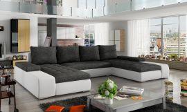 Corner sofa bed Lennon-black-grey